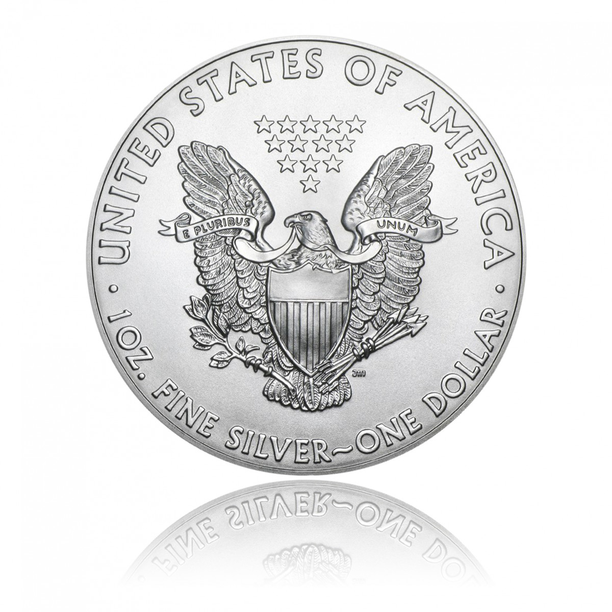 (Random year) 1 Oz silver Eagle United States  Back
