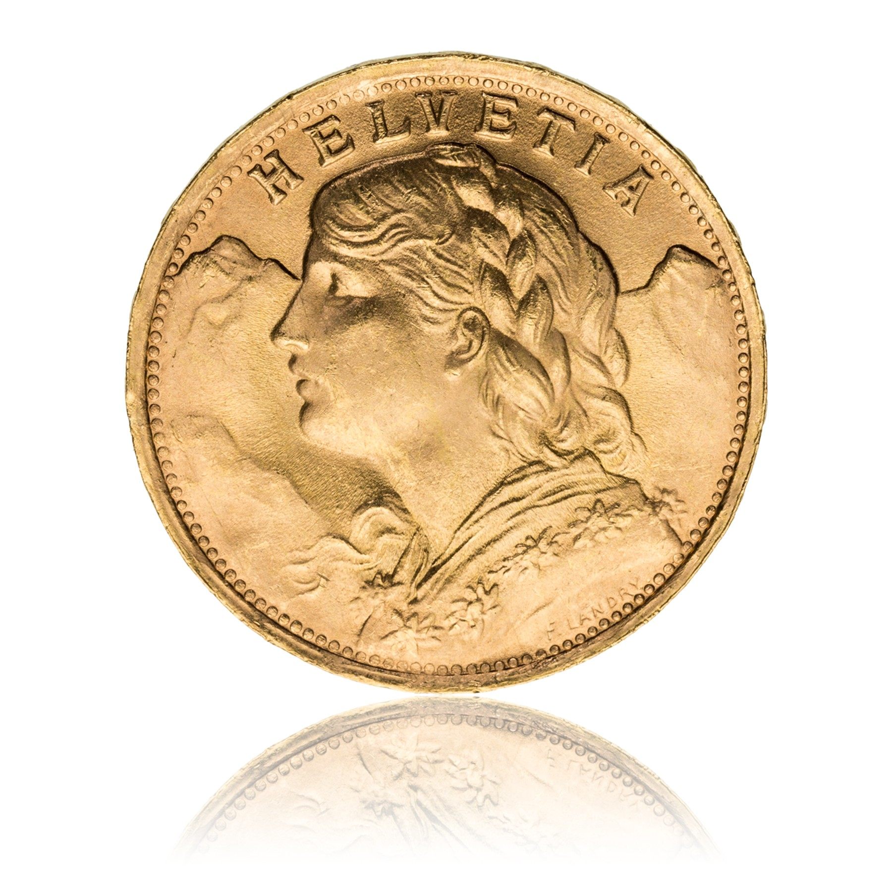 Goldmünze Vreneli 20 Franken Goldmünzen