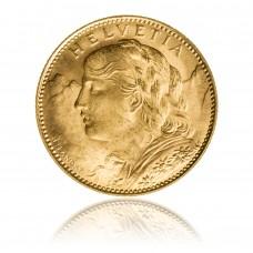 Goldmünze Vreneli 10 Franken