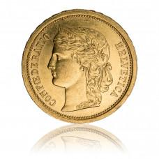 Goldmünze 20 Franken Helvetia