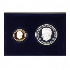 Münzsatz Liechtenstein 50 & 10 Franken 1990