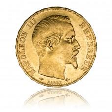 Goldmünze, 20 Francs, Napoleon III.