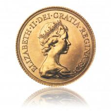 Goldmünze, 1 Sovereign, Elisabeth (Diadem)