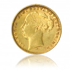Goldmünze, 1 Sovereign, Victoria (Jugend)