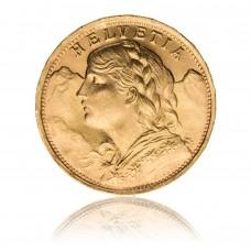 Goldmünze Vreneli 20 Franken