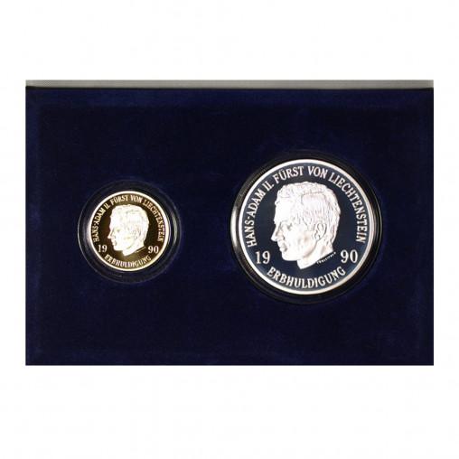 Münzsatz Liechtenstein 50 10 Franken 1990