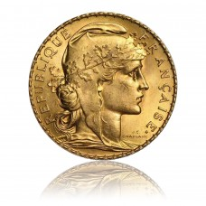 Gold coin, 20 Francs, Marianne (Rooster)