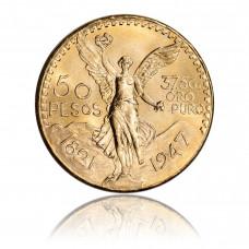 Gold coin Mexico 50 Pesos Centenario