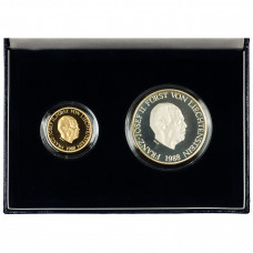 Coin set Liechtenstein 50 & 10 Francs 1988