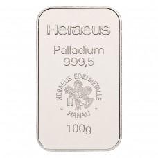 Palladium bar 100 g