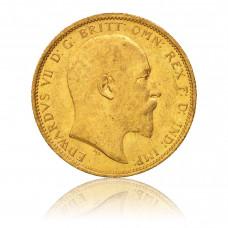 Gold coin, 1 Sovereign, Edward VII.