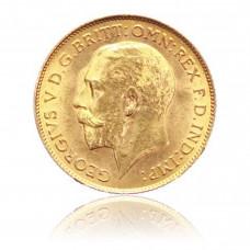 Gold coin, 1 Sovereign, Georg V.