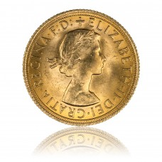 Gold coin, 1 Sovereign - Queen Elisabeth II. (1957-1968)