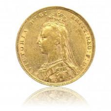Gold coin, 1 Sovereign, Victoria (Crown)
